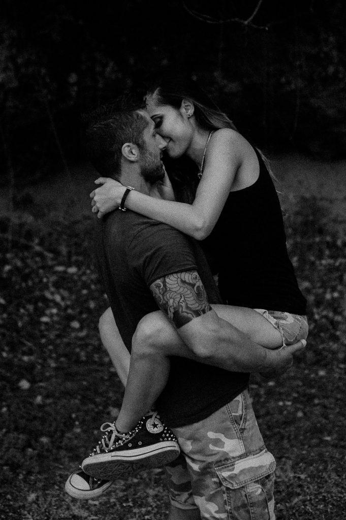 portrait engagement couple future spouses