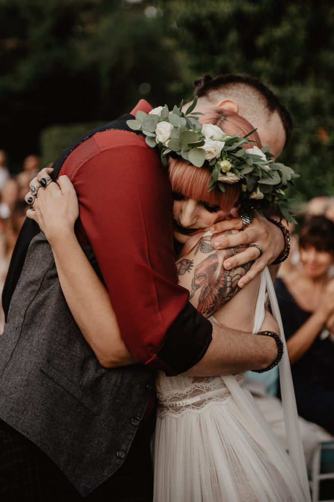 unconventional wedding photographer in Italy
