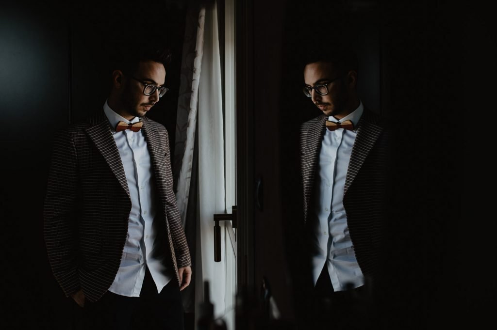 wedding groom preparation photography