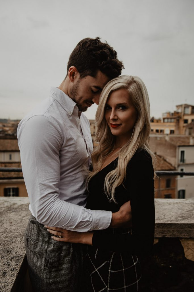 Engagement in Rome of a couple