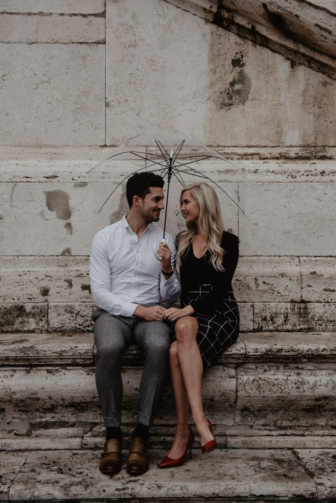 photo of a couple on the Capitol in Rome