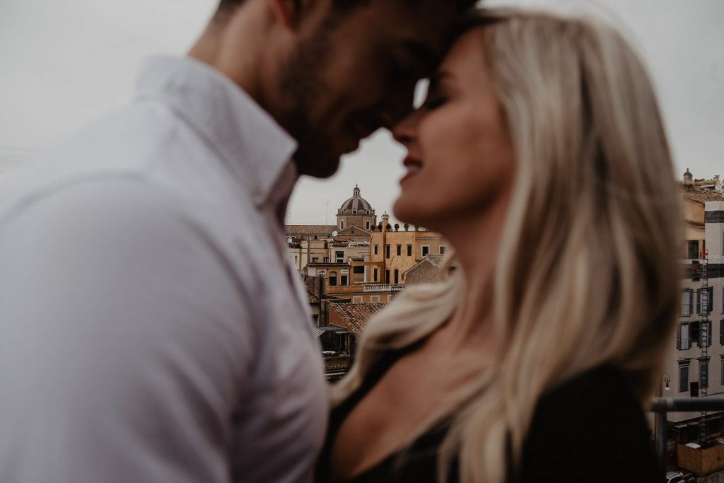 couple during a photo session in Rome