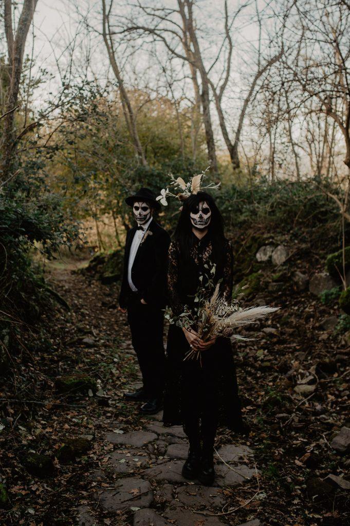 halloween couple photoshoot photographer Italy