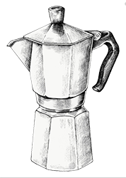 disegno moka caffè