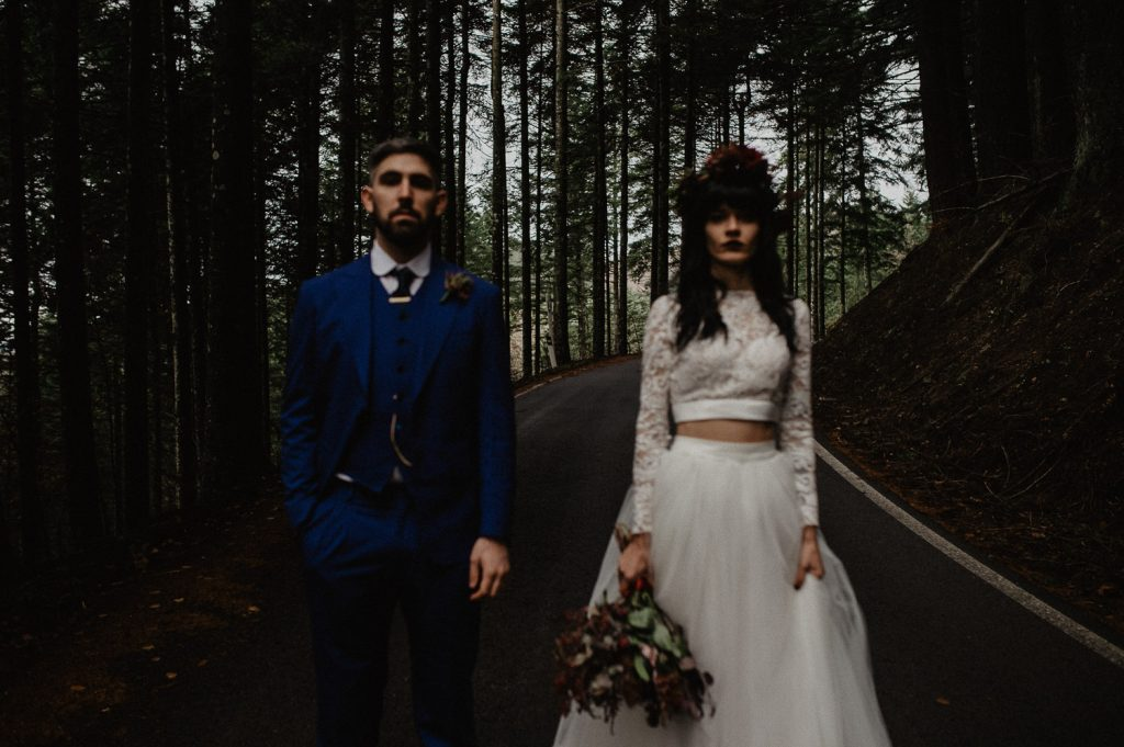 dark wedding photographer Italy