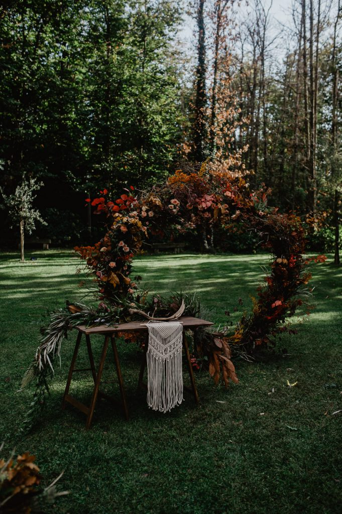 wedding nature ceremony in a wood