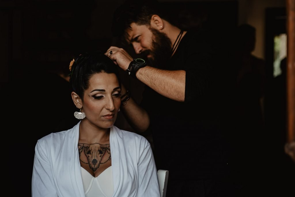 bride preparation destination wedding