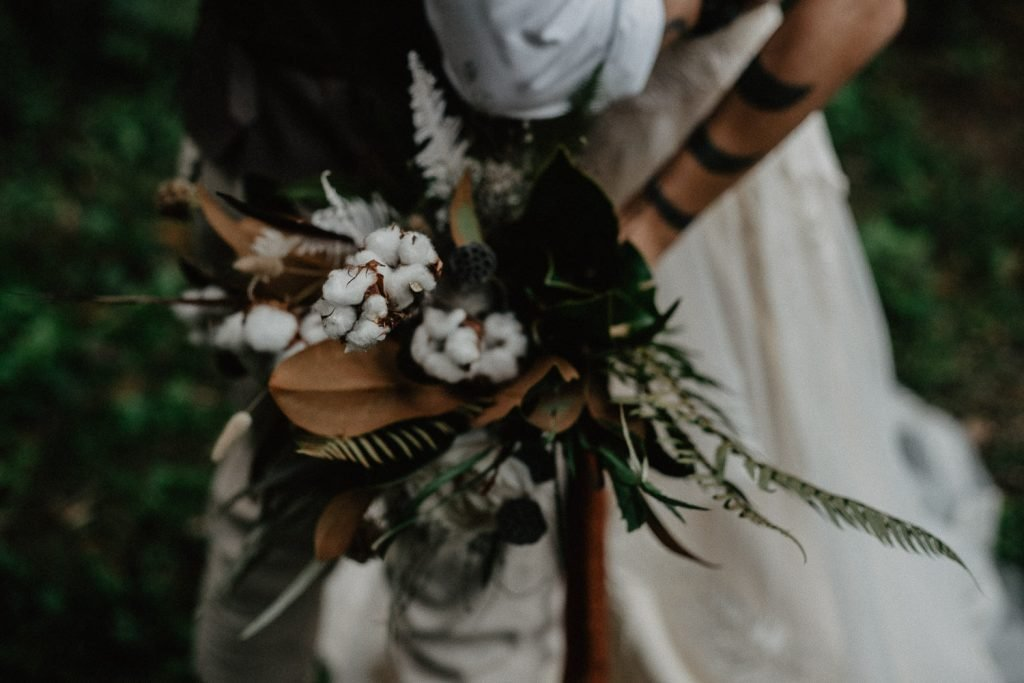 bride wild ferns bouquet